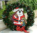 Santapaws in Wreath